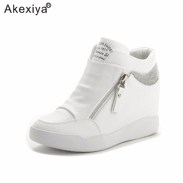 Womens Hole Black Sneaker Pumps Slip on Shoes Running Athletic Hidden Heel Sexy