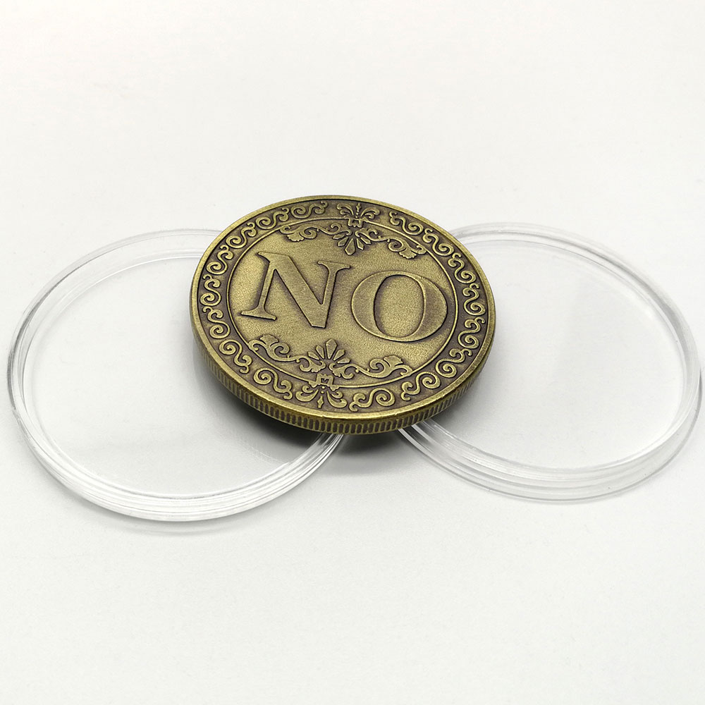 US $3 04 |Three dimensional relief YES OR NO decision coin commemorative  coin collection lucky love coin antique bronze craft gifts-in Non-currency