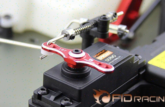 FID CNC alloy new throttle and brake servo arm 18T for LOSI DBXL Desert buggy XL 1/5 rc gas car fid front carriage for losi dbxl