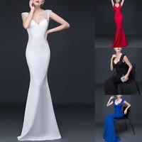 Women Elegant Sequin Beaded Largos Vestido Sleeveless Backless Party Prom Mermaid Christmas Bridesmaid Bodycon Long Maxi