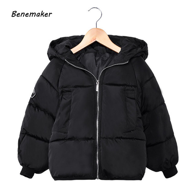 Special Offers Benemaker New Children Fashion Winter Cotton-padded Jackets For Girl Boy Coat Overalls Kids Baby Hooded Clothing Outerwear JH068