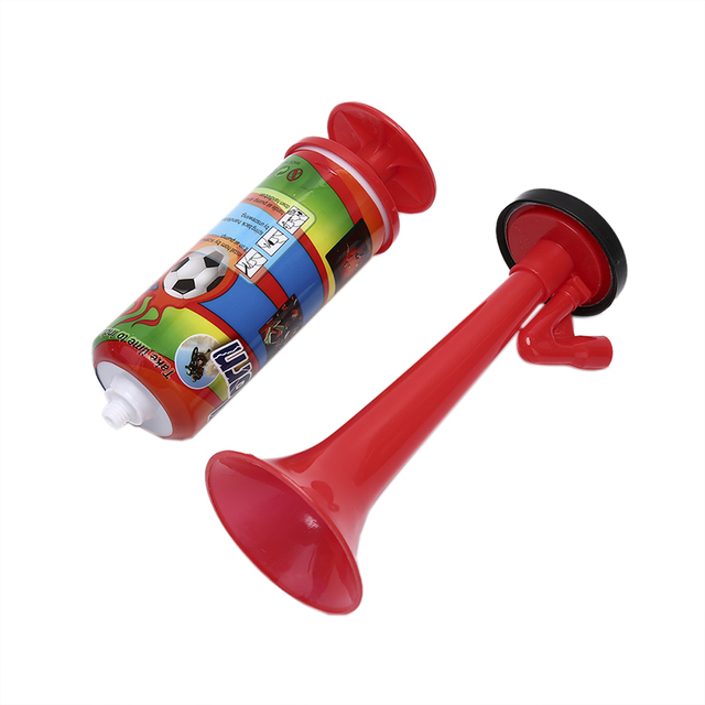 NEW Cheerleading Soccer Ball Fans Horn Sports Meeting Club Props Adjustable Trumpet Child Toy Hand Push Gas Pump Air Horn 1Pc