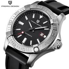 PROJETO PAGANI Mens Relógios Top Marca de Luxo Relógios Pulseira de Borracha Homens Relógio Mecânico Automático Novo 2017 Masculino Relógio montre femme