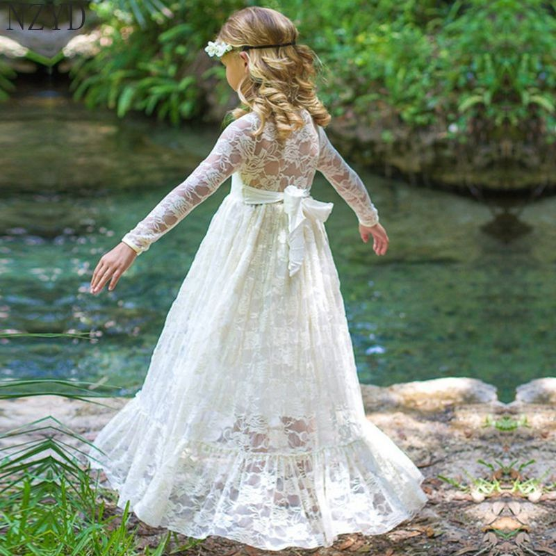 2017 New Fashion Spring Autumn Girls Dress Children Long Sleeve Lace Princess Formal Dress Europe Style Kids Clothes DC060 qwill часы qwill 6053 00 00 9 11a коллекция classic