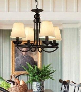 الأمريكي الإبداعي مقهى مصباح ثريا من الحديد قفص العصافير بار شخصية الملابس متجر الدرج