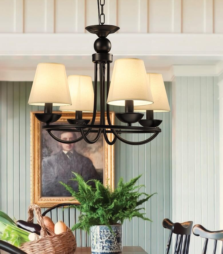 american creative cafe lamp iron chandelier birdcage bar personalized clothing store stairs