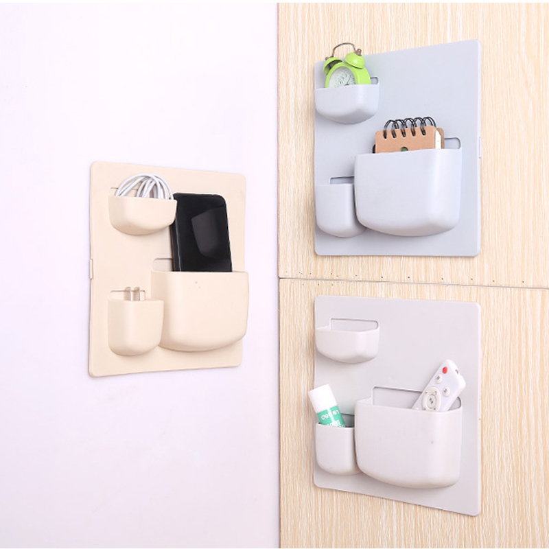 050 Multi function wall storage rack without perforation kithen storage shelf bathroom storage holder 21 6 21 6 4 5cm in Storage Holders Racks from Home Garden
