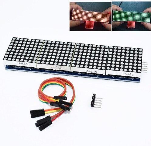 10PCS MAX7219 dot matrix module microcontroller module 4 in one display For Arduino