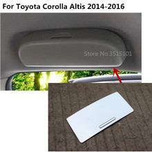 Автомобиль палку крышка нержавеющая сталь отделкой кадр лампа поле очки случае спектакль хранения 1 шт. для toyota Corolla Altis 2014 2015 2016