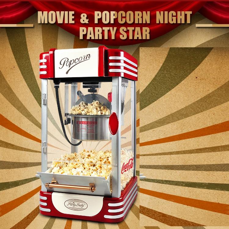 все цены на 111 DHL/Fedex/EMS FREE Shipping! Super Retro Commercial Popcorn Machine Pipoca Pop Corn Making Machine 220V&CE/GS Certification