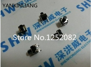 Free shipping 1000PCS Push Button Switches 6*6*5MM 6mm*6mm*5mm DIP-4 Tactile Tact Switch 6x6x5mm