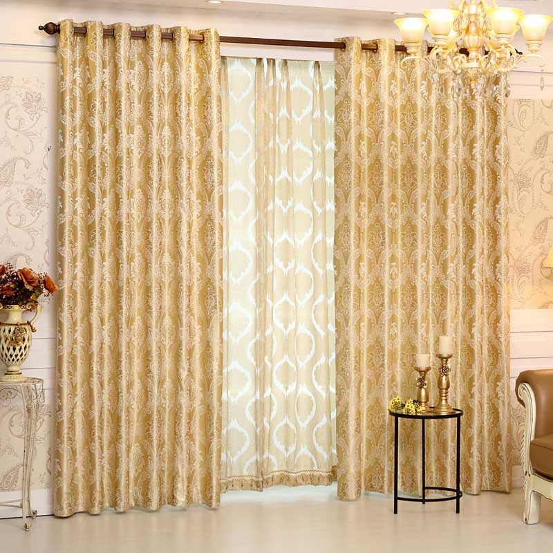 2016 new europe style curtains luxury jacquard curtains for Living room curtain fabric
