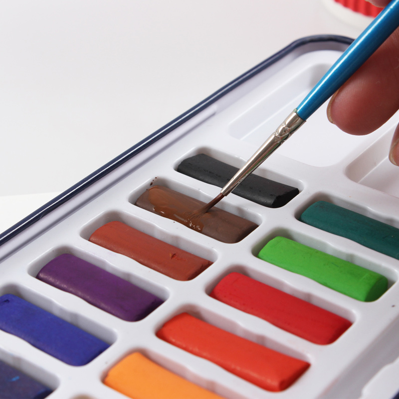 Bianyo Solid Watercolor Paints - 12, 18 or 24 colors 4