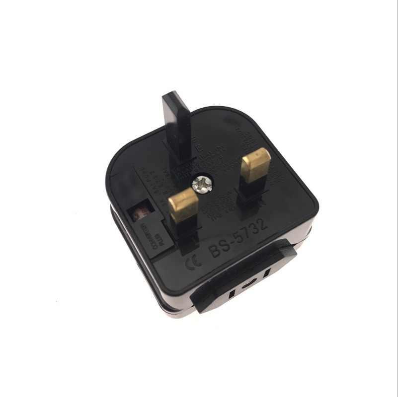W wielkiej brytanii męskie 3 Pin 13A do ue 2 Pin podróży ściana prądu zmiennego ładowarka Adapter konwerter 3 runda Pin gniazdo