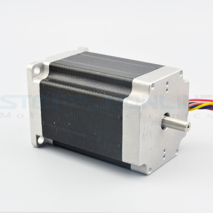 Nema 23 Stepper Motor 2.83Nm/400oz.in 4A 8-wire 6.35mm Dual Shaft CNC Mill Lathe Router 76zy01 mig motor wire feed motor wire feeder motor dc24 1 8 18m min 1pk