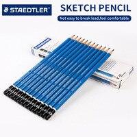 STAEDTLER 15 개 믹스 리드 코어 스케치 드로잉 연필 무독성 페인트 연필 학생 7B 6B 5B 5B 3B 2B B F HB H 2 H 3 H 4 H 5 H 6 H