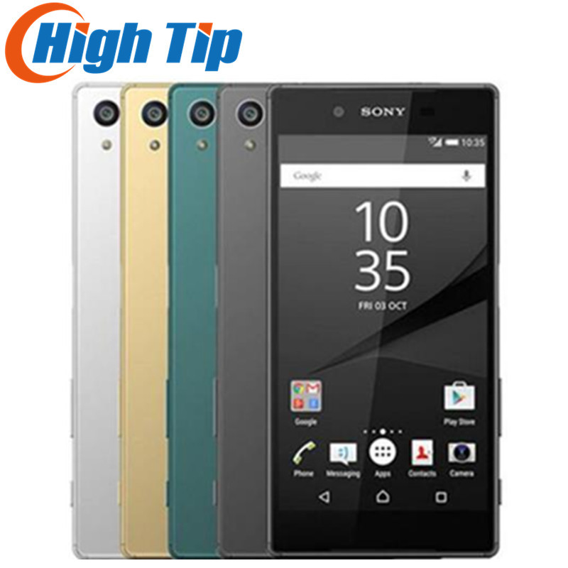 Débloqué Original Sony Xperia Z5 E6653 5.2 pouce 23MP Caméra RAM 3 gb ROM 32 gb GSM WCDMA 4g LTE Android Octa Noyau Mobile téléphone