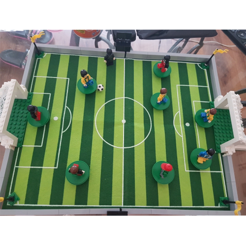World Cup Building Kits Compatible With Legoed City Football Series 88 3D Block Educational Model Building Toys For Children joy joytown j25590 city football field model building block 251pcs diy educational toys for children compatible legoe