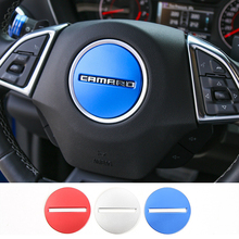 Aluminium Alloy Car Steering Wheel Cover Steering Wheel Decoration Sheet for Chevrolet Camaro 2017+ 1 pair 3d steering wheel shift plectrum modified aluminium alloy plectrum for buick regal gl8 chevrolet camaro 2012 2015