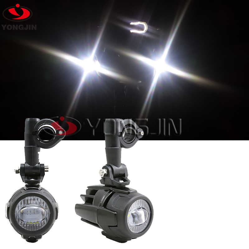 Best Sell Pair Universal Motorcycle LED Auxiliary Fog Light Assemblie Driving Lamp 40W Headlight For B MW