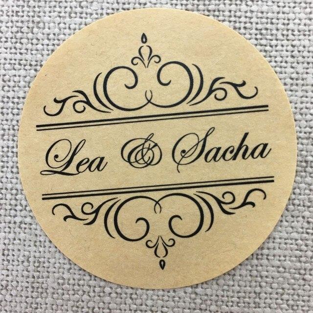 Benutzerdefinierte 100 Stücke Personalisierte Hochzeit Aufkleber Einladung  Party Umschlag Verpackung Klar Logo Kraftpapier Etiketten Dichtungen Favor