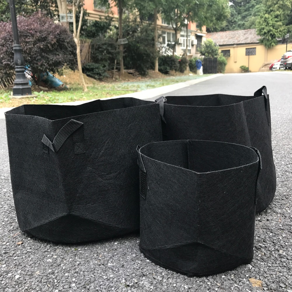 Round Fabric Pots Plant Pouch Root Container Grow Bag Aeration Garden Container