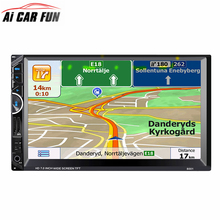 2Din 7inch Touchscreen Car MP5 Multimedia Video Player Auto Audio Stereo Radio with GPS Navigation FM Bluetooth Rear Camera