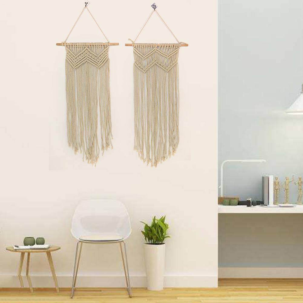 white bohemian hanging chair rattan glass table and chairs macrame handmade knitting cotton rope tapestry wall tapisserie banner tassel craft home decor textiles in from garden