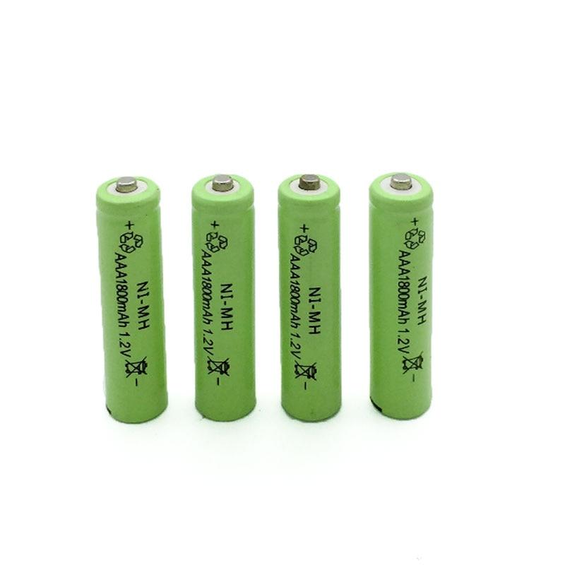 4pcs a lot Ni-MH 1800mAh AAA Batteries 1.2V AAA Rechargeable Battery NI-MH Bateria for Flashlight camera,toys etc