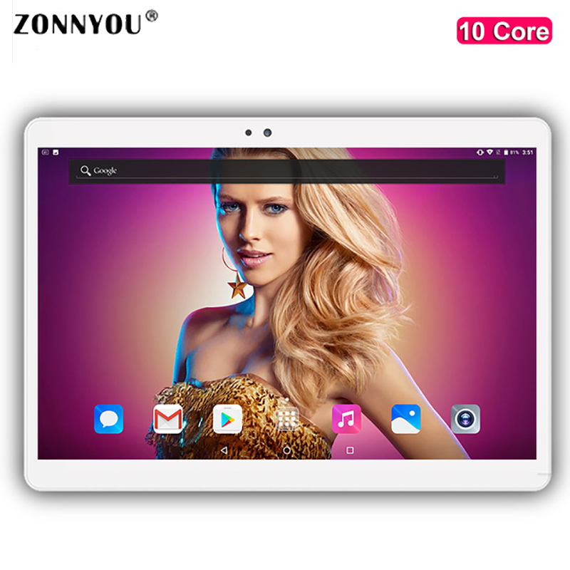 10 inch Tablet PC Android 7.0 Core 4GB RAM 32GB ROM 5MP WIFI GPS 3G Call LTE 2.5D Tempered Glass Tablet PC10.1 lnmbbs android 5 1 8 core 10 1 inch tablet pc 2gb ram 32gb rom 5mp wifi a gps 3g lte 1280 800 ips dual cameras otg fm multi game