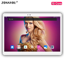 10 inch Tablet PC Android 7.0 Core 4GB RAM 32GB ROM 5MP WIFI GPS 3G Call LTE 2.5D Tempered Glass Tablet PC10.1