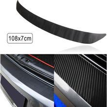 цена на 108x7cm Waterproof Car Bumper Carbon Film Fiber Rear Bumper Sticker Trim Protector for Car Styling Auto Car Accessories