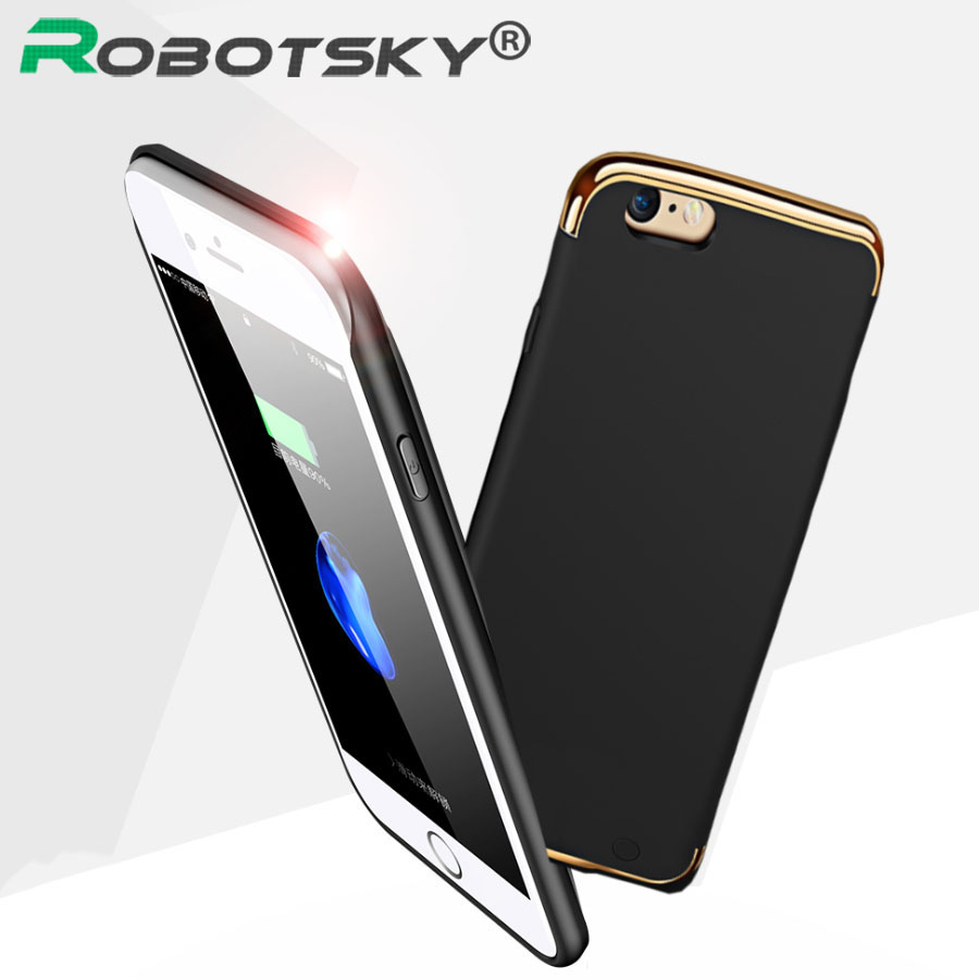 charger case for iphone 6 7 plus phone cases wireless charge cover 2300 3500mah portable power. Black Bedroom Furniture Sets. Home Design Ideas