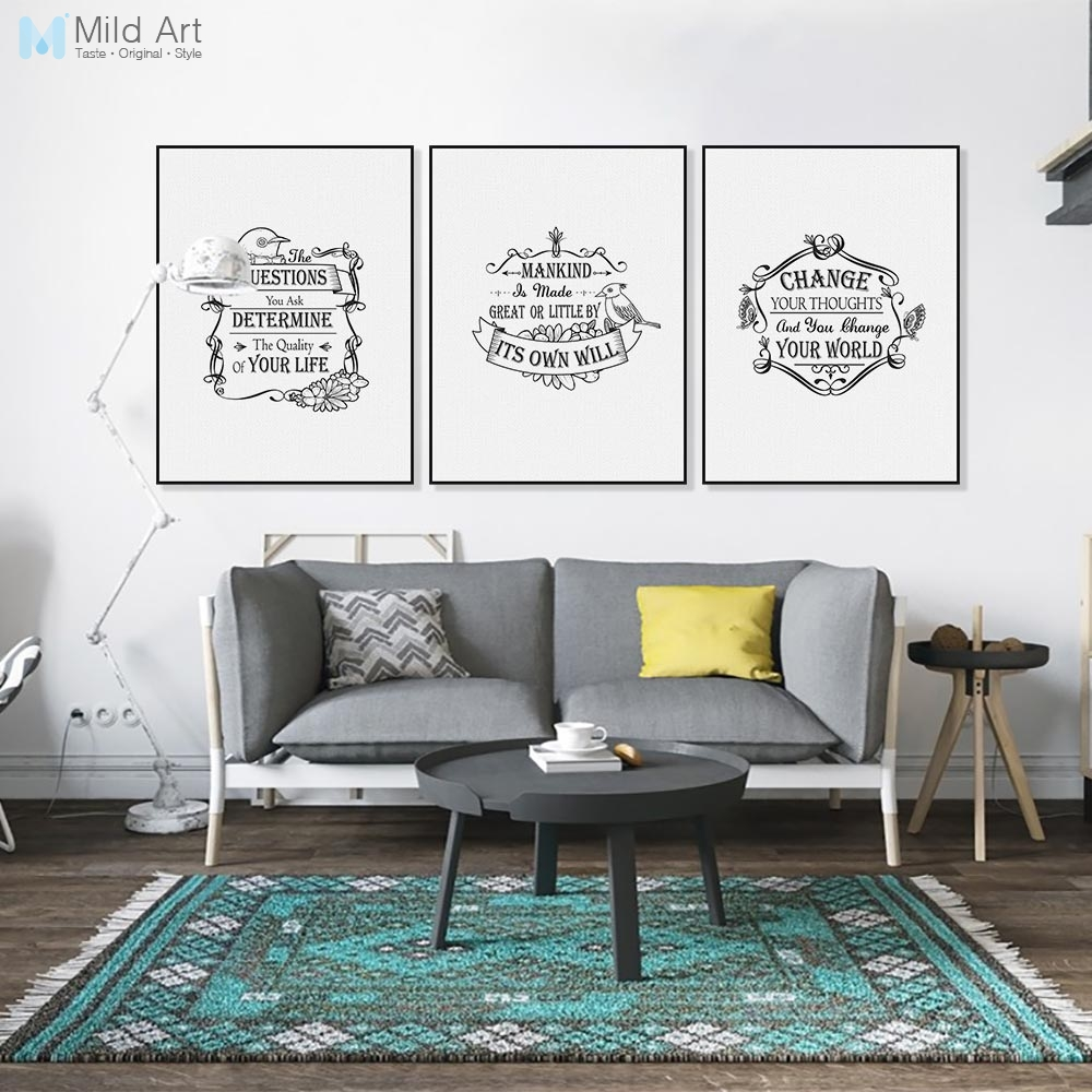 Vintage Retro Bird Typography Inspirational Quote Poster Nordic Living Room Wall Art Picture Home Decor Canvas Painting No Frame Art Pictures Inspirational Quotes Posterswall Art Picture Aliexpress