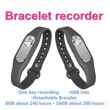 Новые оригинальные Носимых Браслет спортивный браслет Портативный 4 ГБ одна кнопка долгое время аудио запись видео цифровой диктофон
