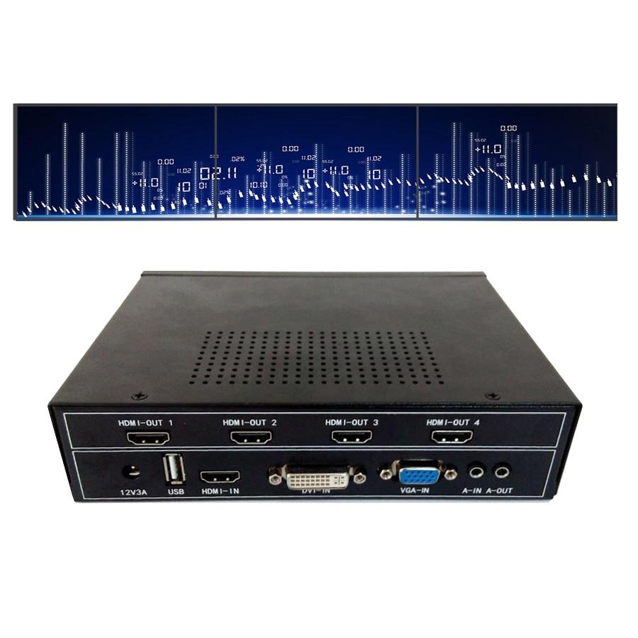 купить 1x3 hdmi video wall processor for led tv video wall hdmi output vga dvi hdmi usb input по цене 21759.2 рублей