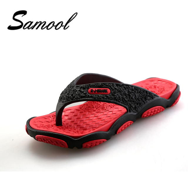 7dd852ba69a33a Samool Mens Flip Flops Summer Men s New Style Rubber Soft Shoes Outdoor  Beach Men Sandals Massage Men Footwear Beach Shoes OX58