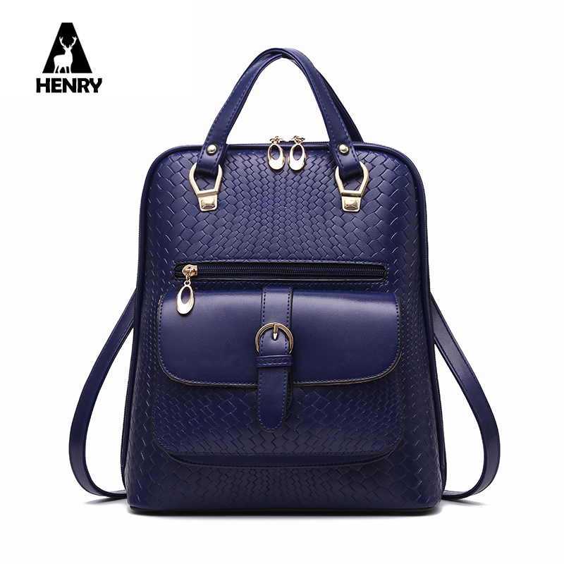 Mochilas New 2016 Unique Design Women Shoulder Bag font b Tartan b font Female Backpack High