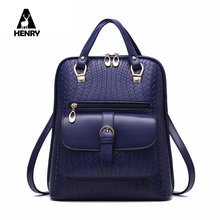 Mochilas New 2016 Unique Design Women Shoulder Bag Tartan Female Backpack High Quality School For Travel Back Pack Preppy Style