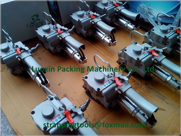 Fabrika Düşük Fiyat Pnömatik çemberleme aracı AQD/XQD-19 mühürleyen gergi kombinasyon kaynak paketleme makinesi PET 13-19mm