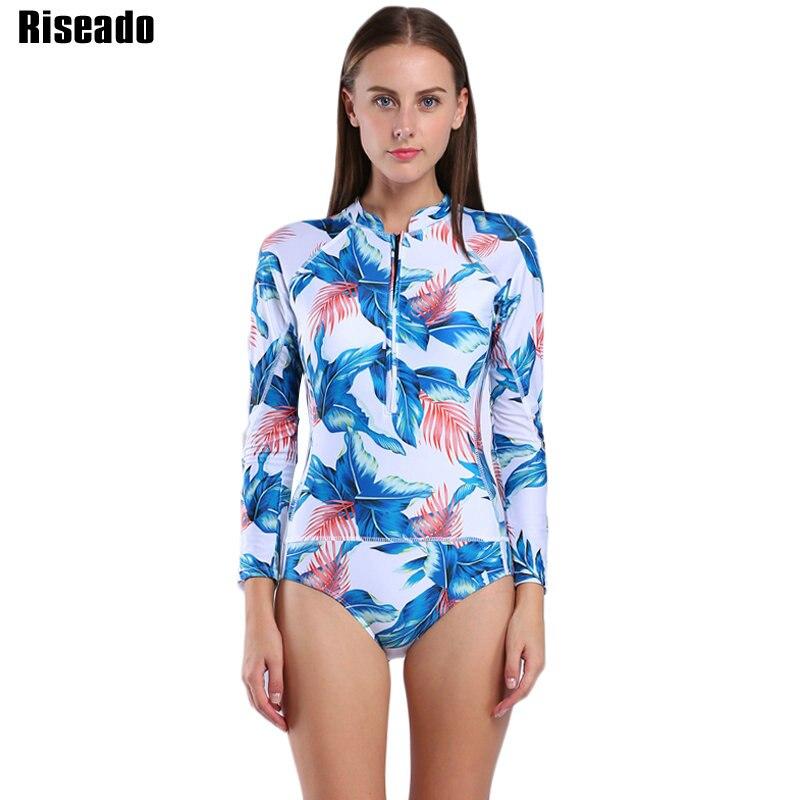 9e9bef1d0b1 Riseado One Piece Swimsuit 2017 Long Sleeve Swimwear Women Bathing ...