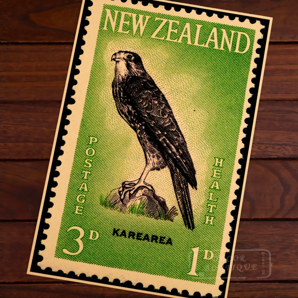 Girls' Life Brigade Health Stamps New Zealand NZ Vintage