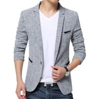 Men Clothes 2018 Fashion Silm Fit Casual Coat 5XL Blazer Men Casaco Masculino Veste Homme Costume Linen Mixed Blazers Men Suits