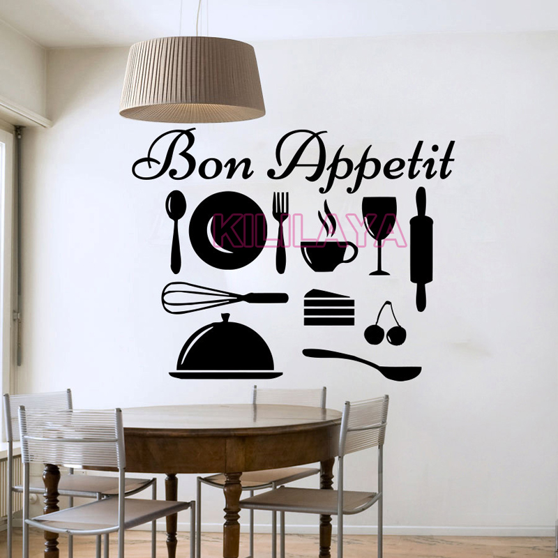 Stickers Cuisine Bon Appetit French Wall Sticker Vinyl Wall Decals