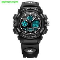 2017 Luxury Brand SANDA LED Digital Watch Men S Waterproof Sports Military Watches Shock Children Analog