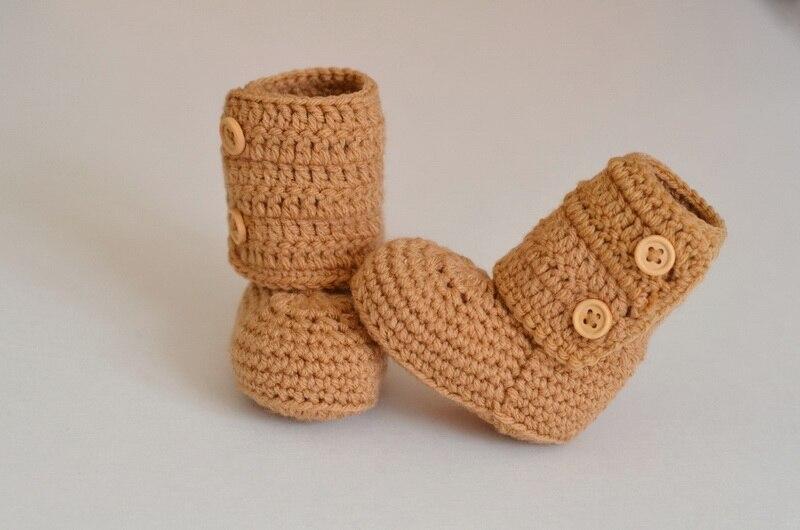 Häkeln Baby Booties Schuhe Stiefel Mädchen Jungen Häkeln Booty Gewirkter Gestrickte-gelb üBerlegene Leistung Freies Verschiffen Mutter & Kinder Stiefel