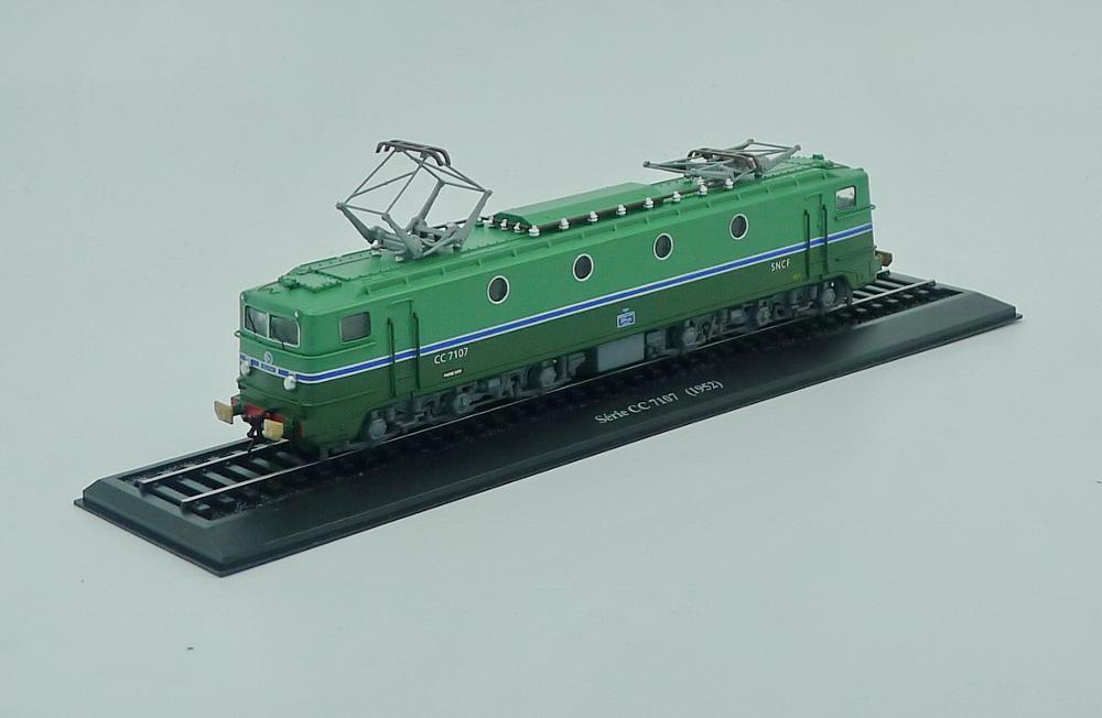 Ho scale model Atlas 1:87 Train Serie CC 7107 1952 Diecast model Train