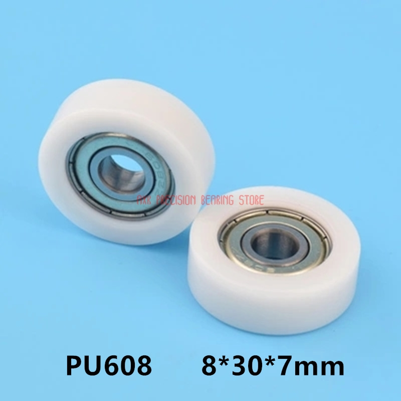 5pcs U Nylon plastic Embedded Groove Ball Bearings 6*39*8mm Guide Pulley