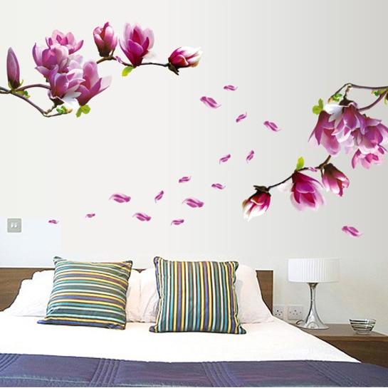 bloemen muurstickers-koop goedkope bloemen muurstickers loten van, Deco ideeën