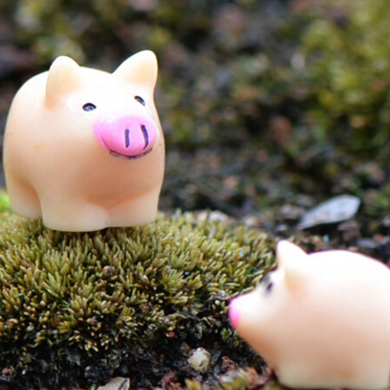 2pcs Home Decorations Cartoon Pig Micro Landscape Ornaments Decor Bonsai  Plant Garden Ornament Creative Resin Crafts In Figurines U0026 Miniatures From  Home ...